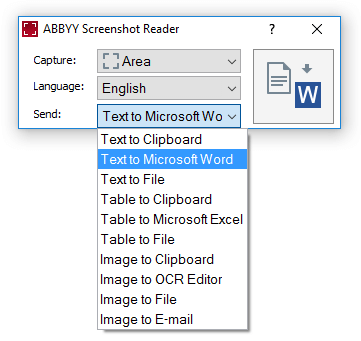 Convert Screen Content to Editable Format with ABBYY Screenshot Reader