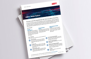 brochure d'ABBYY Mobile Capture