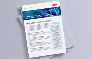 Brochure d'ABBYY FineReader Engine