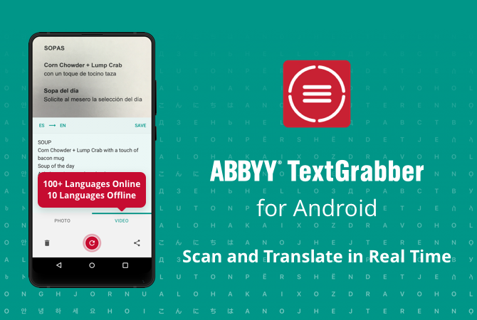 TextGrabber Android with Real-Time Translation