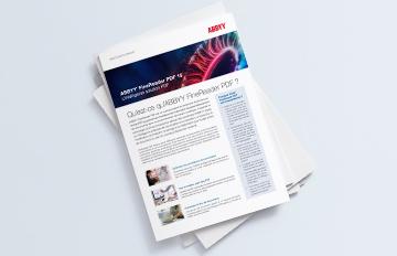 ABBYY FineReader PDF 15 – L'intelligente solution PDF