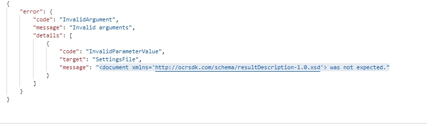 Error when using processFields